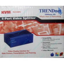 Видеосплиттер TRENDnet KVM TK-V400S (4-Port) в Березниках, разветвитель видеосигнала TRENDnet KVM TK-V400S (Березники)